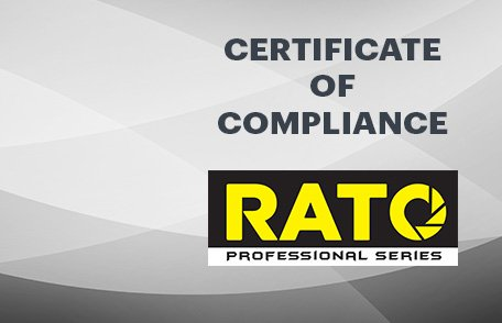 Rato Certificate of Compliance