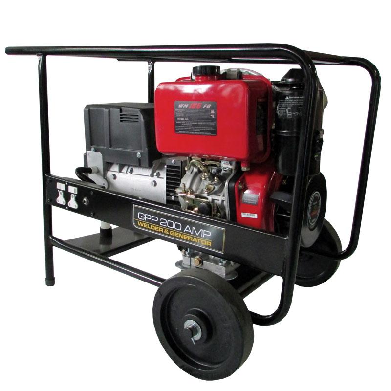 Weima Welder Generator - GPP-200DW_TROLLEY_ES